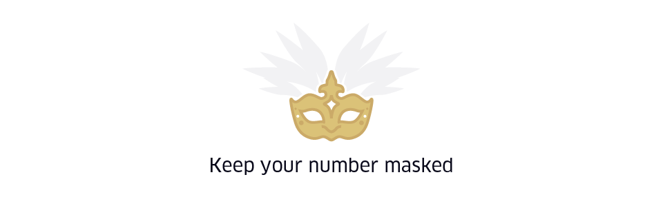 Keep your number masked