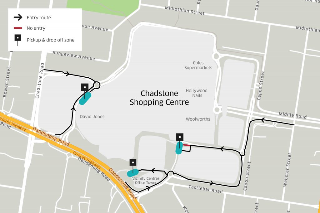 New Pickup & Drop Off locations at Chadstone Shopping Centre | Uber Blog
