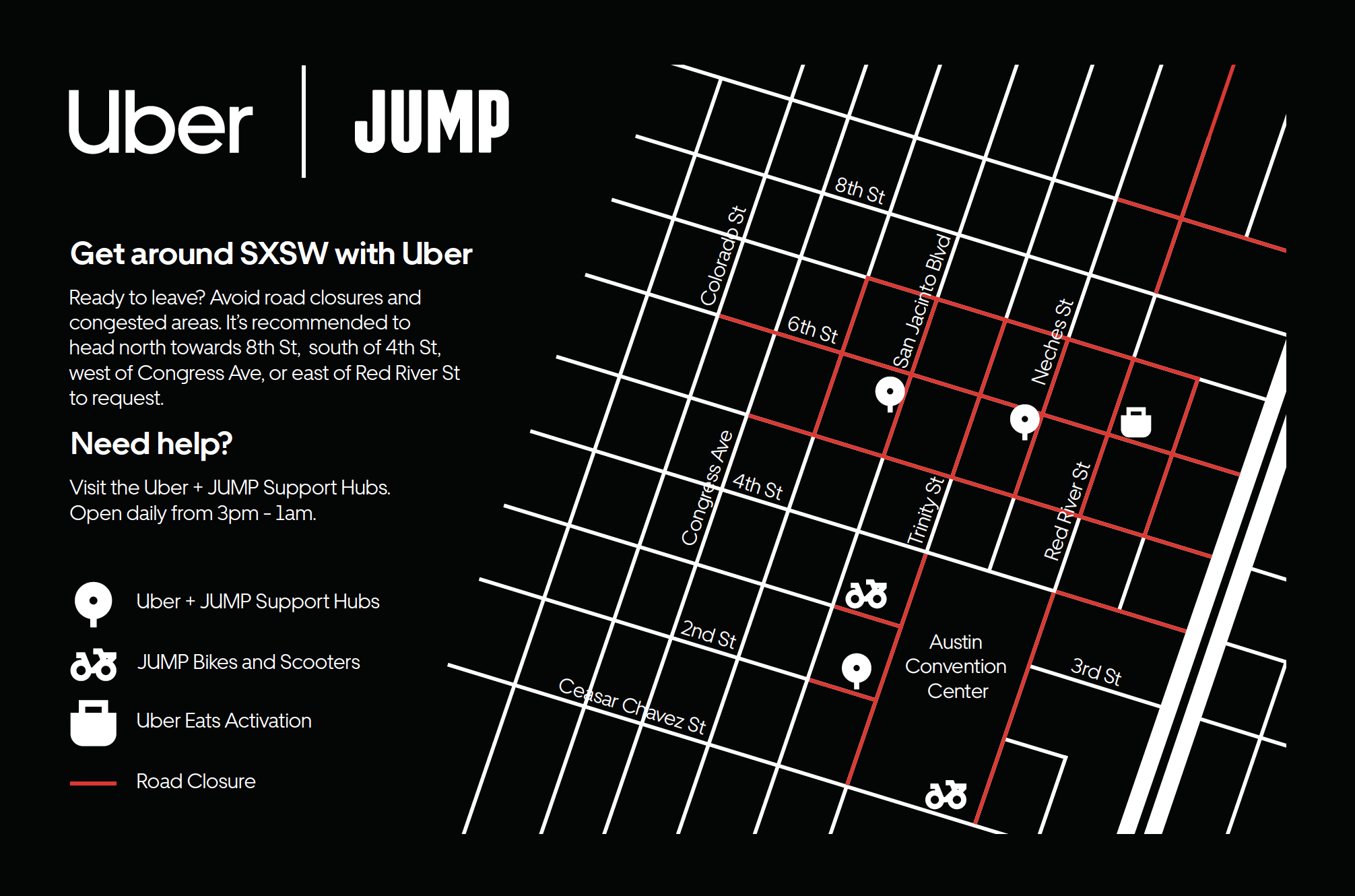 Uber map for SXSW