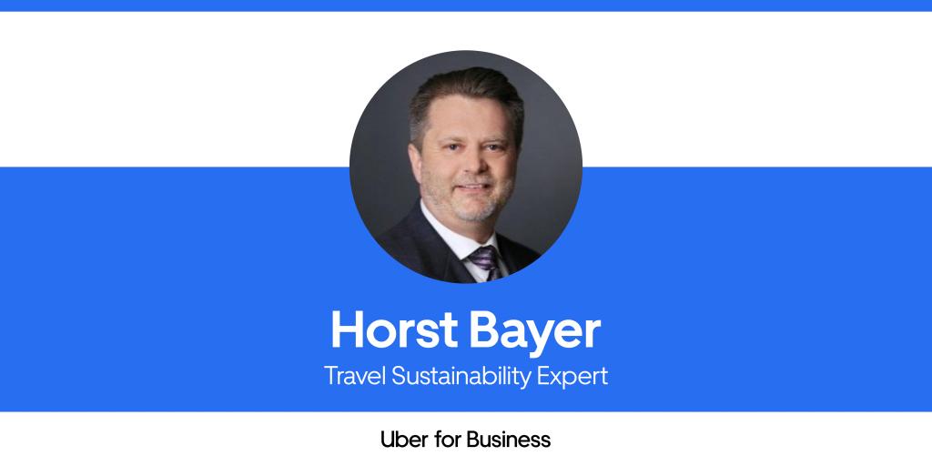 Sustainability articles: Horst Bayer, Travel Sustainability Interview