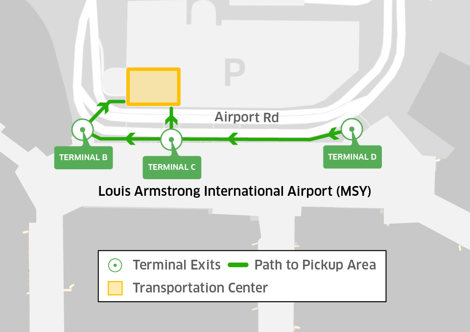 New orleans_airport map_blog_960x680_r2 rideguru uber, lyft & rideshares at msy louis armstrong new