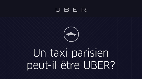 un taxi parisien peut il tre uber uber blog. Black Bedroom Furniture Sets. Home Design Ideas