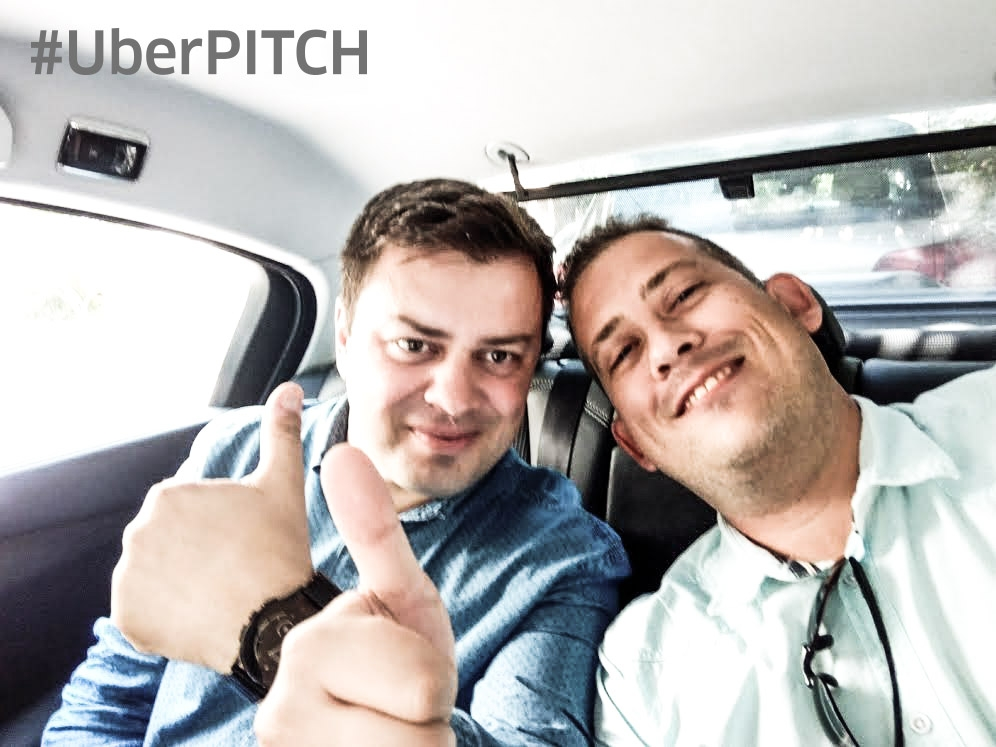 ndrei Pitis si Patrick Gates, CEO Symme3D in timpul UberPITCH