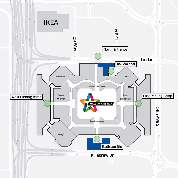 mall of america parking map my blog