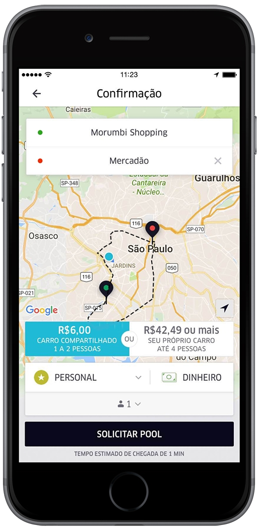 FlatFarePOOL_iphone6_uberpool