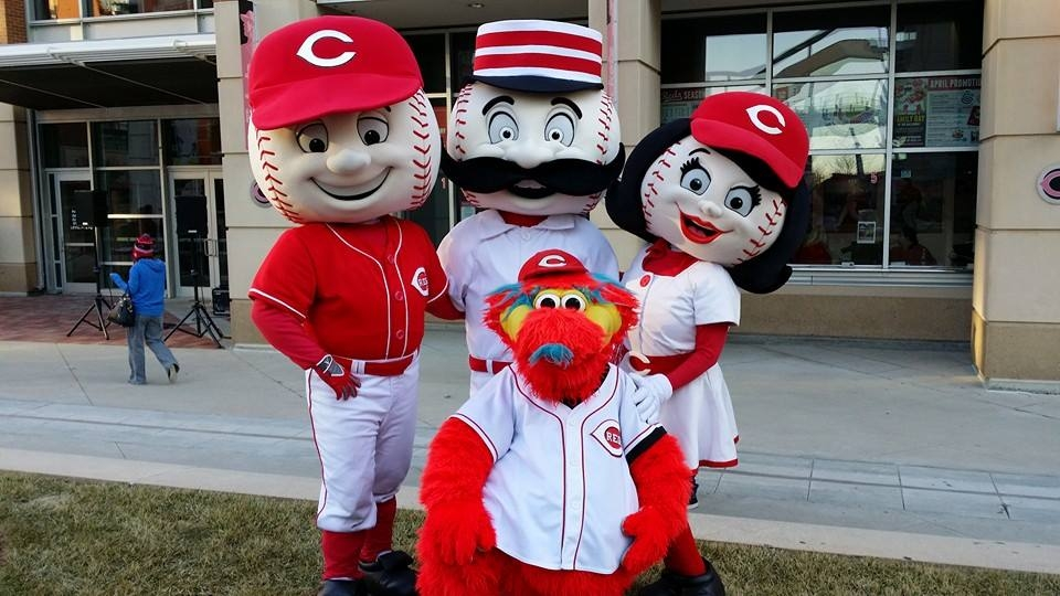 Image result for cincinnati reds mascots